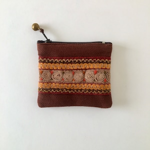 モン族の刺繍のコインケース① Hmong Embroidery Coin Purse