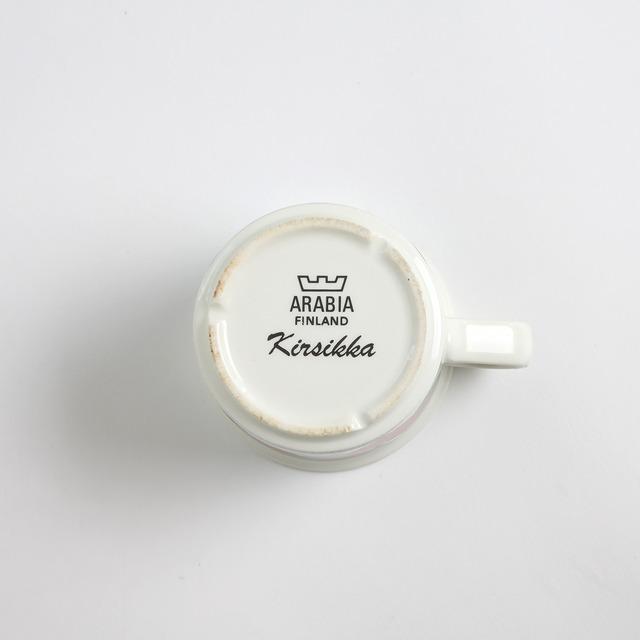 ARABIA アラビア Kirsikka キルシッカ コーヒーカップ&ソーサー、プレート三点セット - 1 北欧ヴィンテージ ☆わけあり☆
