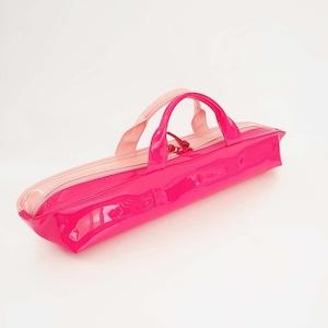 [ sugaya design lab エナメルバッグ ]  在庫1点  hosonaga  L ローズピンク+ピンク