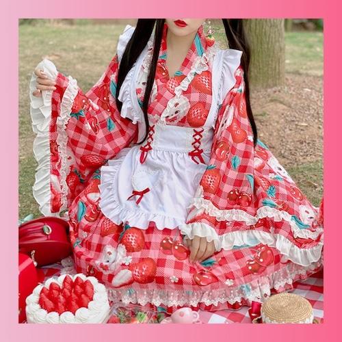 【お取り寄せ】和風 ベリー 兎 メイド服