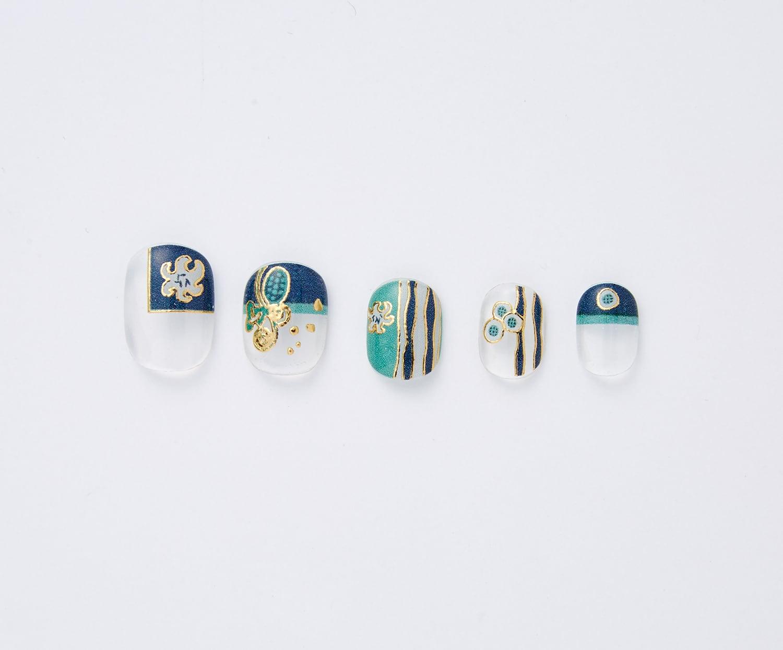 杉浦非水の装丁を楽しむ  箔がきらめくジェル風ネイルシール〈自然と人生〉