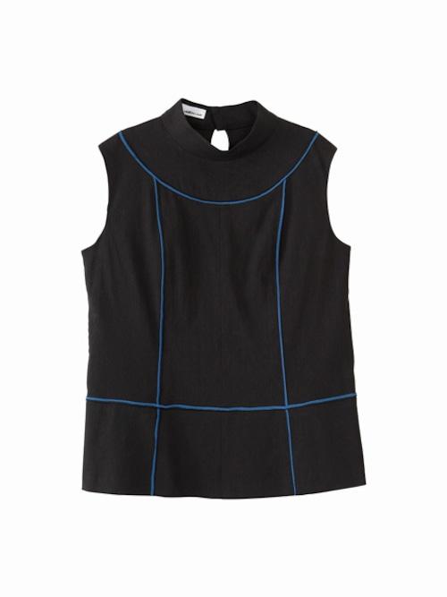 Colour line switched tops / black × blue / S16TP01