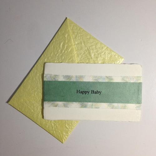 和紙の出産祝いカード(Baby003)