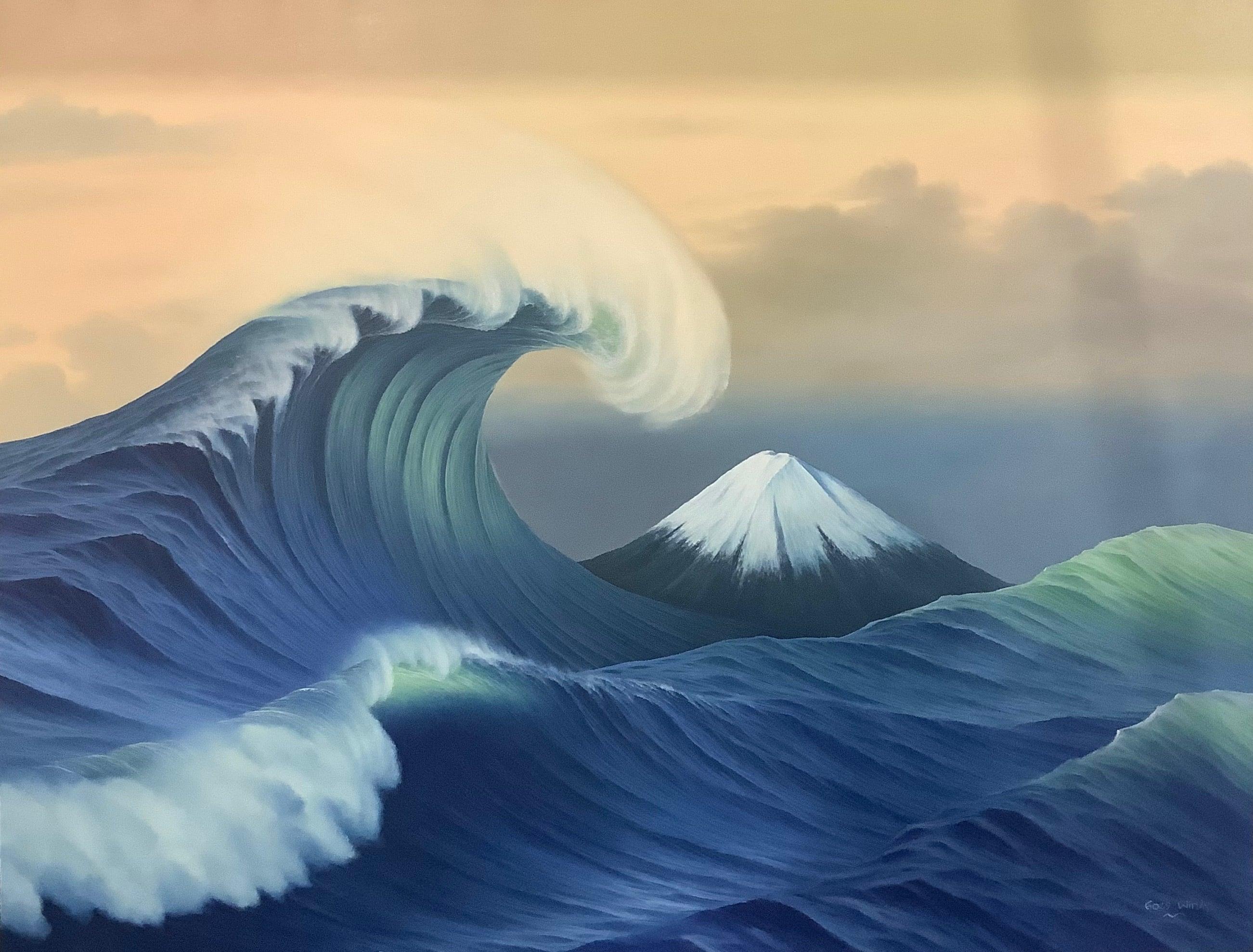 Hokusai Katsushika Windy Wave Arrange