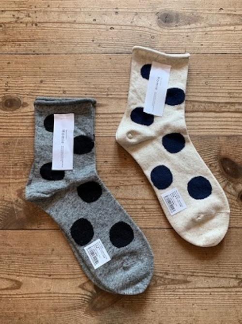 Homie/cotton linen dot socks