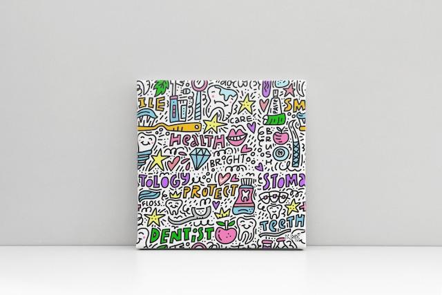 Canvas キャンバスプリント(スクエアS1サイズ・木製パネル貼り)