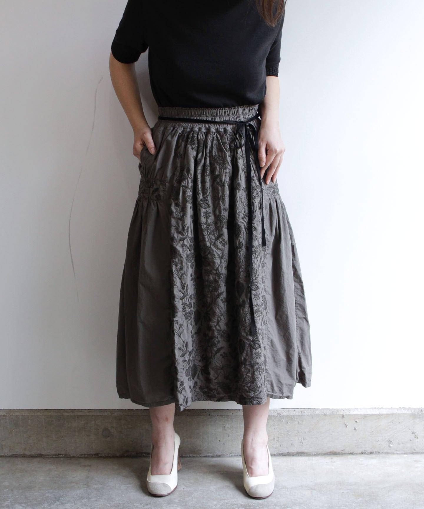 筆記帳刺繍製品染めスカート(mua-215)