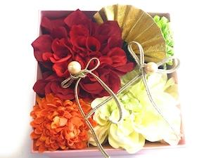 赤白*和風のリングピロー*そのまま飾れるボックス入り