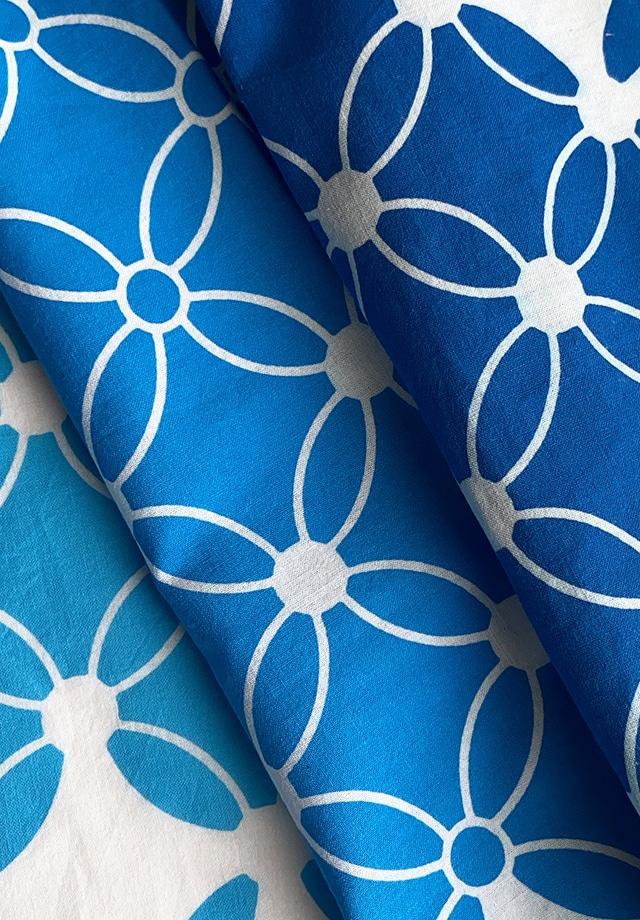 手ぬぐい:七宝変わり柄 (Blue gradation)