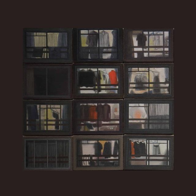 絵画 絵 ピクチャー 縁起画 モダン シェアハウス アートパネル アート art 14cm×14cm 一人暮らし 送料無料 インテリア 雑貨 壁掛け 置物 おしゃれ 夜 風景 ロココロ 画家 : 馬見塚喜康 作品 : 夜