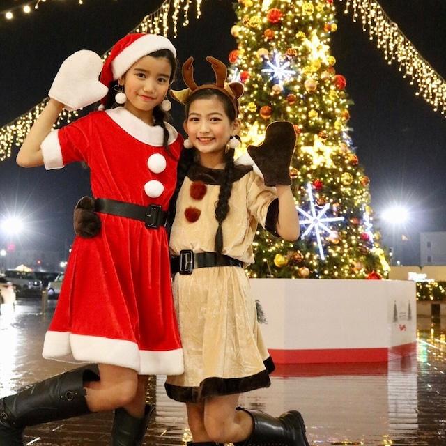 【即納】クリスマスコス サンタクロース トナカイ ワンピース コスプレ