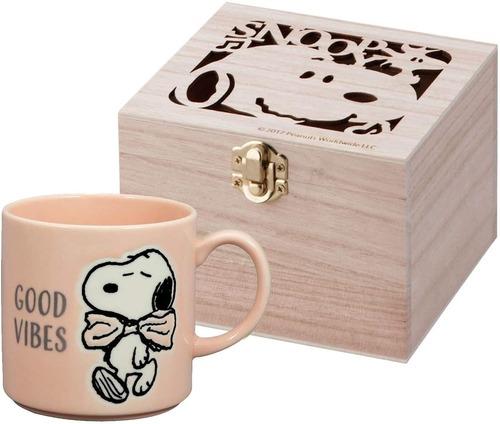 【PEANUTS】スヌーピー木箱入りマグカップ(SN454-11H)