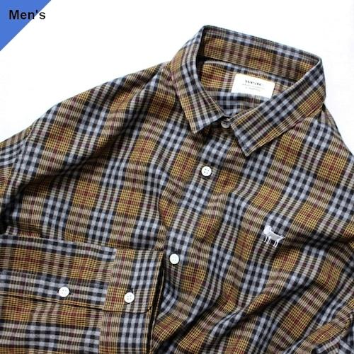 weac. PUGCHAN レギュラーシャツ (BROWN CHECK)