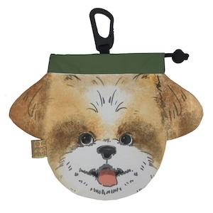 犬のウンチバッグ M 【シーズー】(茶色) 防臭生地 / デオドラント加工布使用