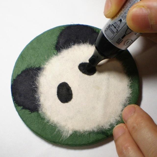 和紙でつくる【パンダさんのコースター】キット