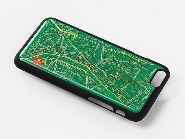 FLASH Paris回路地図 iPhone6/6s ケース 緑【東京回路線図A5クリアファイルをプレゼント】