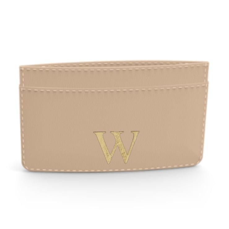Premium Smooth Leather Card Case (Nude)