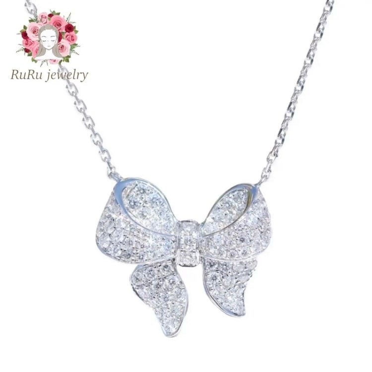 angel ribbon necklace / silver 925