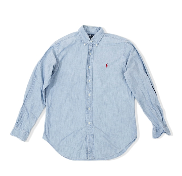 Used_デニムシャツ/Polo by Ralph Lauren |デニム ジャストサイズ ラルフ ボタンダウン 【順次発送商品】