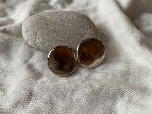 〈vintage silver925〉puffy round earrings