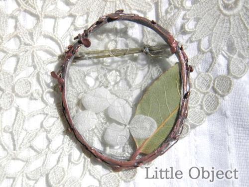 ブローチ - ブローチ だ円 - Little Object - no4-lit-02