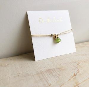 Birth stone bracelet (Peridot) / on the beach   OBH-44