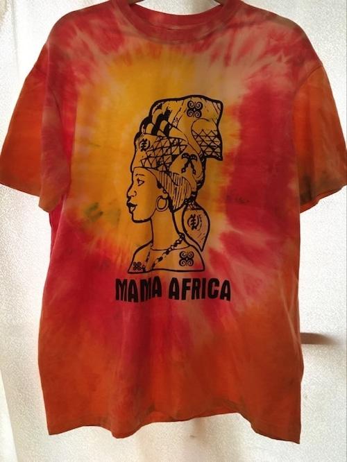 ガーナの手染めTシャツ【L】 MAMA AFRICA-②