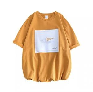 オーバーサイズロゴTシャツ   ロゴT グラフィックT  プリントTシャツ ドレープ