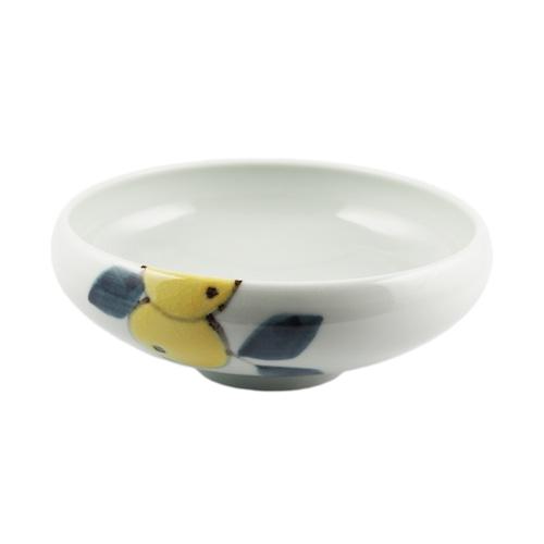 徳永遊心窯 色絵みかん 4.5寸鉢
