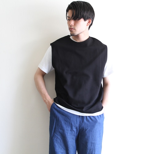 STILL BY HAND【 mens 】cotton nylon vest