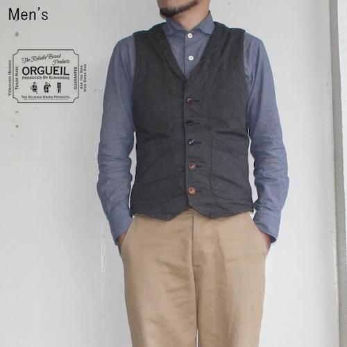 ORGUEIL ジレ Gilet OR-4009 (BLACK)  【Men's】
