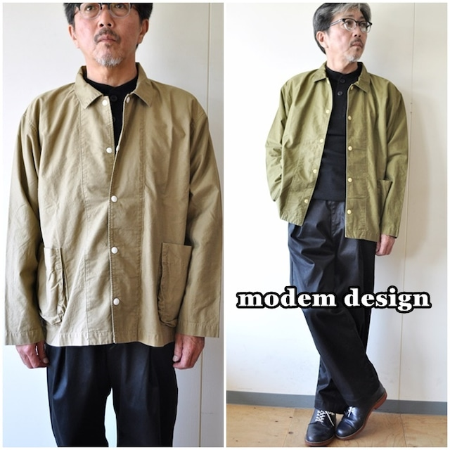 モデムデザイン MODEMDESIGN カバーオール 綿 メンズ ジャケット 1903353 日本製 ジャパン