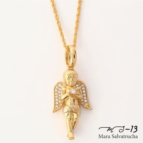 【MS-13】K18GP エンジェル チャーム M(ゴールド)