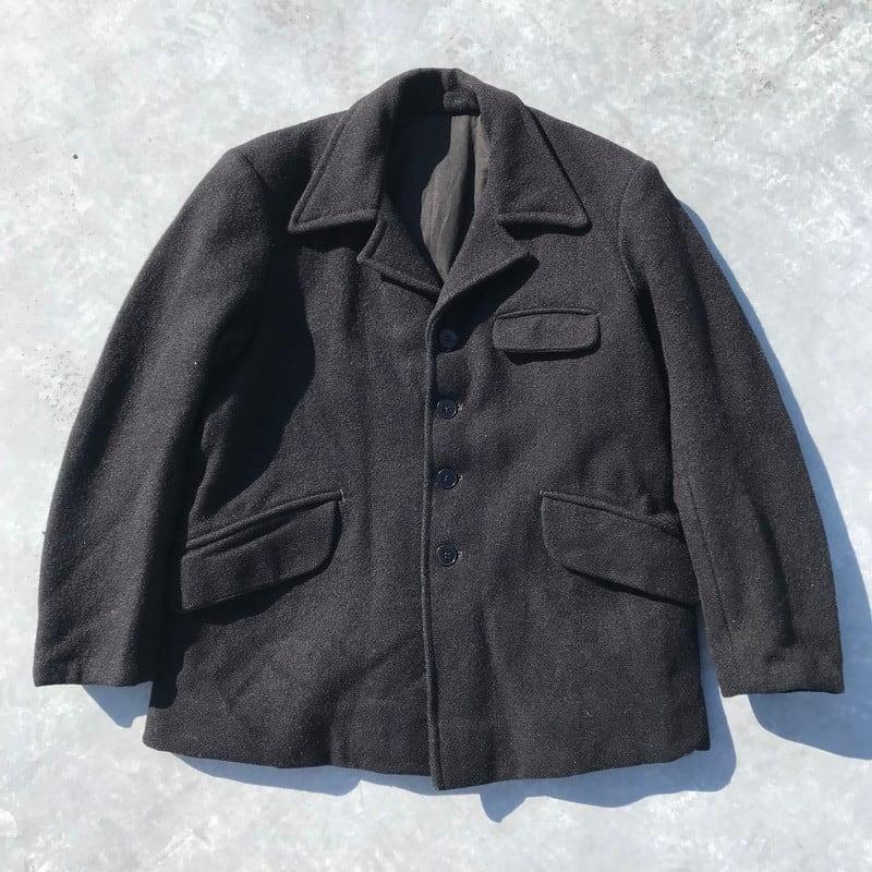 30's  SIGRAND&CIE ウール4Bジャケット ファーマージャケット フランス ブラック クラシック デパート 38位 希少 ヴィンテージ