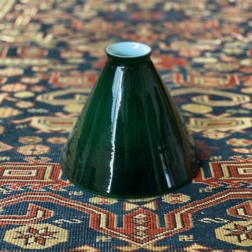 Antique green glass shade