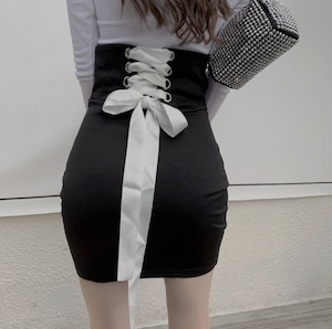 lace up tight skirt