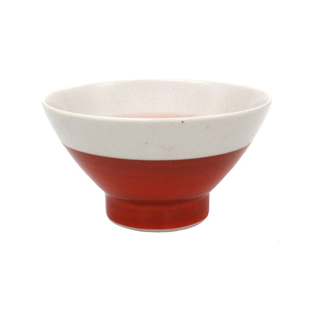 波佐見焼 24to3 和山窯 くらわんか 飯碗 茶碗  約11cm 赤巻 446044