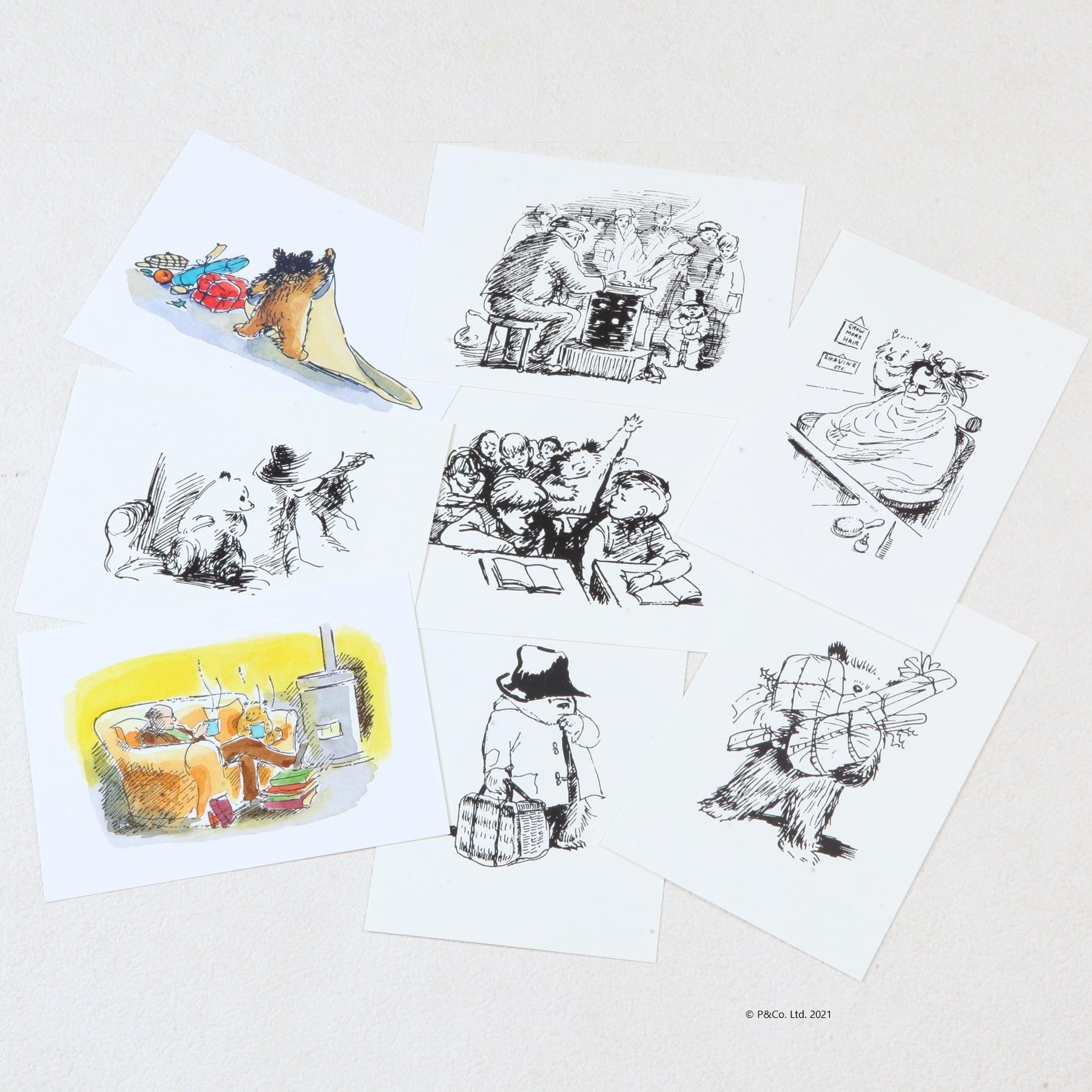 「くまのパディントン™展」展覧会オリジナルのポストカードセット(8枚)