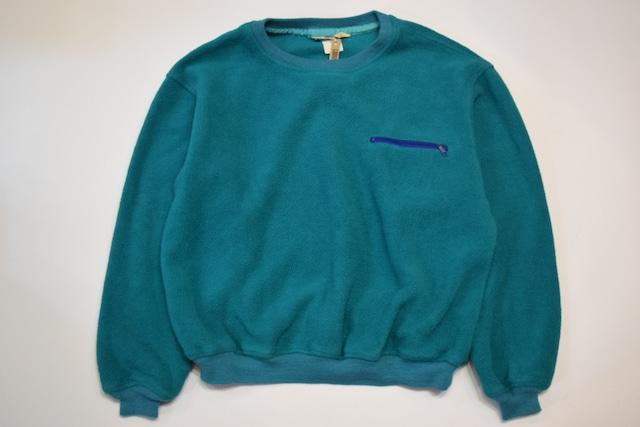 USED 90s L.L.Bean Crew neck Fleece Jacket -Large 1201