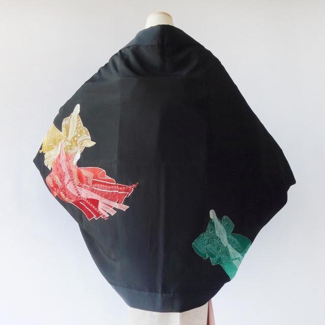 モモンガKIMONO羽織(三姫)黒留袖着物リメイク