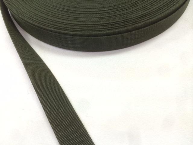 サコッシュなどに、ナイロン ベルト 高密度 15mm幅 1mm厚 カラー 10m単位