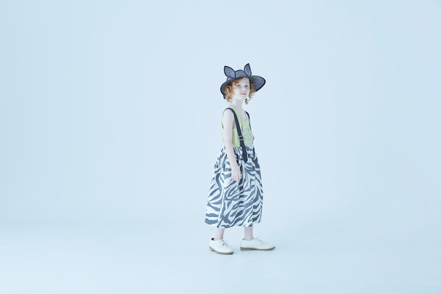 【21SS】eLfinFolk(エルフィンフォルク)zebra skirt(90/110/130)ゼブラ スカート