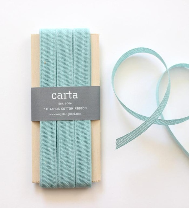 [Studio Carta]コットンリボン/Loose Wave Cotton RibbonーWood Paddle 10Yards Pool  スタジオカルタ