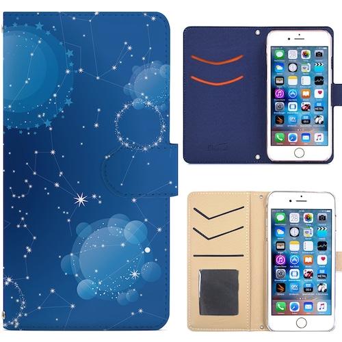 Jenny Desse SoftBank 501SO ケース 手帳型 カバー スタンド機能 カードホルダー ブルー(ホワイトバック)