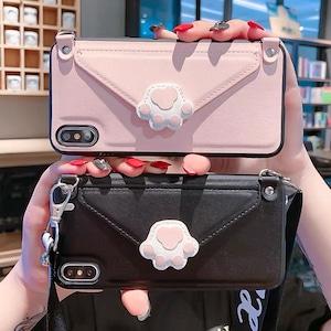 【お取り寄せ】肉球 iPhoneケース カード収納付き