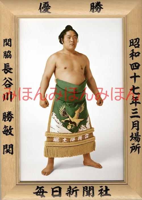 昭和47年3月場所優勝 関脇 長谷川勝敏関