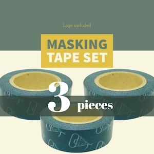 【3巻セット】ロゴマスキングテープ