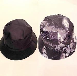 Reversible Bucket Hat Feather / Black