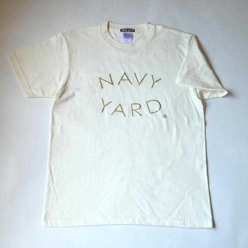 NAVY-YARD ロゴTシャツ アイボリー