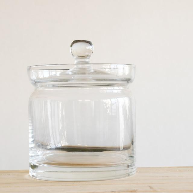 【ガラス容器】ガラスキャニスターM(直径100mm x h100mm) ◆一番人気